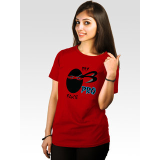 Incynk Women's Pro-Face Tee (Red)