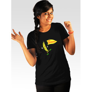 Incynk Women's Go Bananas Tee (Black)