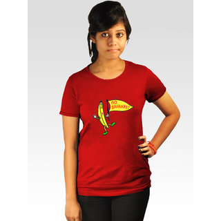 Incynk Women's Go Bananas Tee (Red)