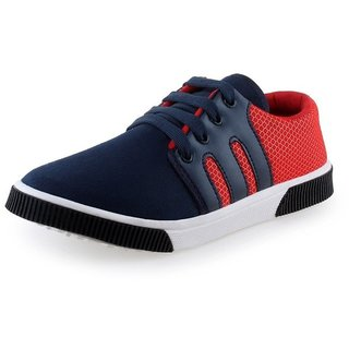 Larson Mens Wiser Red Blue Casual Sneakers Outdoor Shoes