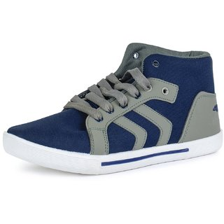 Larson Mens Arrow  Gray Blue Casual Sports Sneaker Shoes