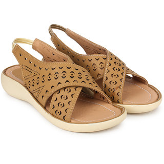 Do Bhai WomenS Brown Flats (KM-2000-Brown)