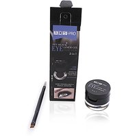 ADS PRO 2IN1 JET BLACK EYE LINER GEL POWDER WITH FREE Liner  Rubber Band-AOAS