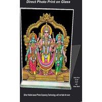 Thiruchendur Murugan Print on Glass Sized 8x6