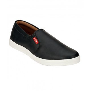 Footstamp Black Casual Slip-on Shoes - 90193238