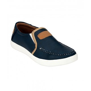 Footstamp Blue Casual Slip-on Shoes