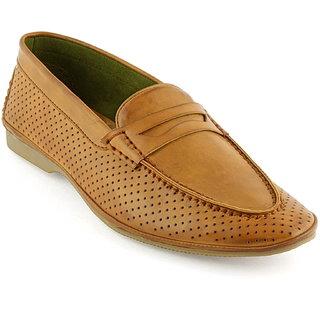 DeVEE Goose Greyleg Mens Pointy Toed Flat Tan Slip On Casual Loafer