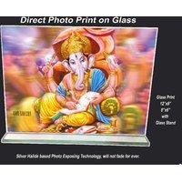 Jai Ganesh Print on Glass Sized12x8
