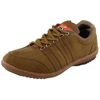 HASSANS Tan Suede Sneakers
