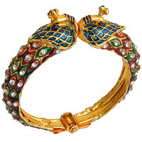 The Pari Peacock Multi-Colour Designer Alloy Bangle