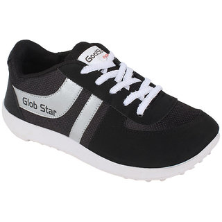 Glob Star Men's Black And White Casual Shoes