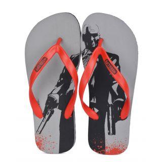Wega Life HITMAN Grey/Black/Red Flip-Flops