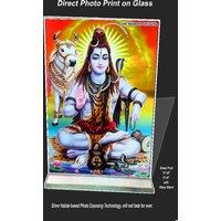 Shiva Print On Glass Size12x18