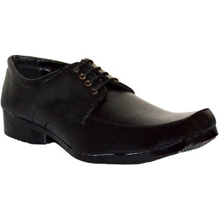 Shoeniverse Mens Black Lace Up Formal Shoes