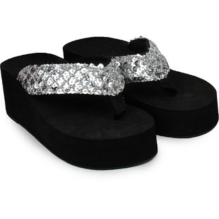 Do Bhai WomenS Silver Heel Sandals (Sippy-Gola-Silver)