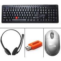 Technotech (USB Keyboard, Mouse,Headphones,Card Reader)Combo
