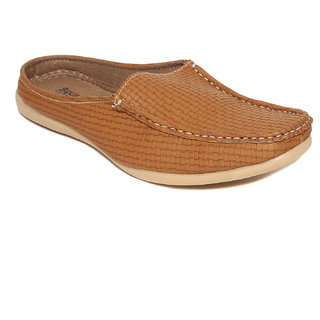 Squarefeet MenS Tan Slip On Casual Shoes (SqFSB-013Tan)