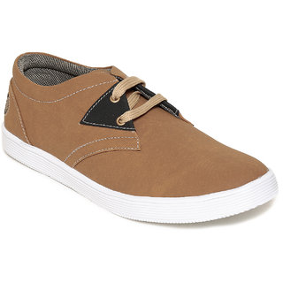 Squarefeet MenS Brown Lace-Up Casual Shoes (SqFSB-005Chikoo)