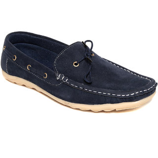 Squarefeet MenS Blue Slip On Casual Shoes (SqFSB-007Blue)