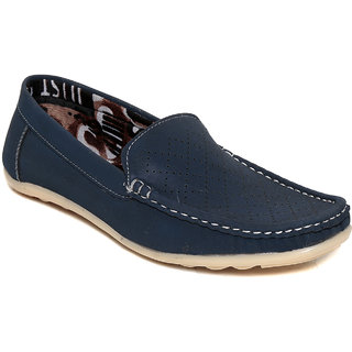 Squarefeet MenS Blue Slip On Casual Shoes (SqFSB-018Blue)