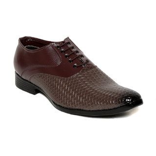 Squarefeet MenS Brown Lace-Up Formal Shoes (SqFSB-021Brown)