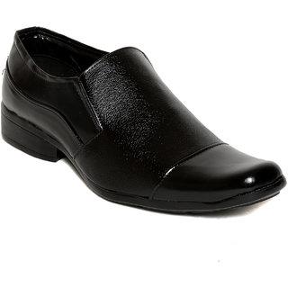Squarefeet MenS Black Slip On Formal Shoes (SqFSB-027Black)