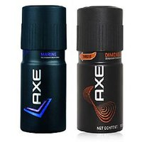 Amusing AXE DEO COMBO(MARINE+DIMENSION) Pack Of 4
