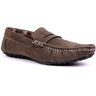Sam Stefy Synthetic Leather Slip On Brown Casual Shoes For Men - 90465299