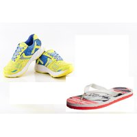 Provogue Yellow Running Sports Shoes With Lotto Slipper