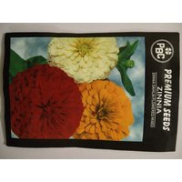 PBC Zinnia Dahlia Flowered Mixed Premium Seeds (Pack Of 100 Seeds)