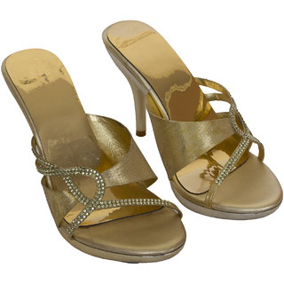 Rialto WomenS Gold Peep Toe Heel Sandals (RL-MP30-Gd)