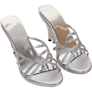 Rialto WomenS Silver Peep Toe Heel Sandals (RL-MP31-Si)