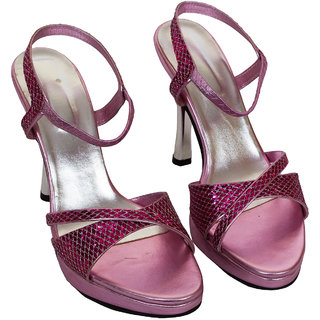 Rialto WomenS Pink Peep Toe Heel Sandals (RL-MP32-Pi)
