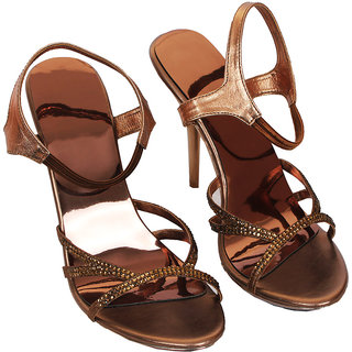 Rialto WomenS Brown Peep Toe Heel Sandals (RL-MP34-Br)