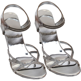 Rialto WomenS Silver Peep Toe Heel Sandals (RL-MP34-Si)