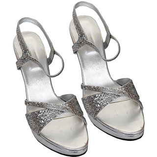 Rialto WomenS Silver Peep Toe Heel Sandals (RL-MP35-Si)