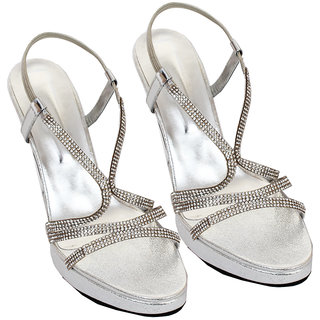 Rialto WomenS Silver Peep Toe Heel Sandals (RL-MP37-Si)