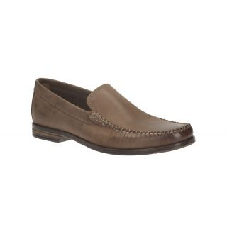 Clarks MenS Brown Formals Slip On Shoe (BrekenFreeDarkBrownLea)