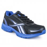 Joveyln Comfortable Black  Blue Sports Shoes J425