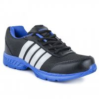 Jovelyn Comfortable Black  Blue Sports Shoes J428