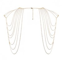 Bijoux Indiscrets The Magnifique  - Metallic  Chain  Shoulders  Back Jewelery