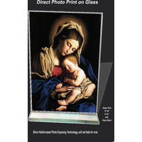 Mary-baby-jesusPrint on Glass Sized 12x8