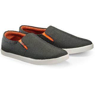 Juandavid MenS Black Slip On Sneakers Shoes (146 Black)