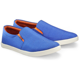 Juandavid MenS Blue Slip On Sneakers Shoes (146 Blue)