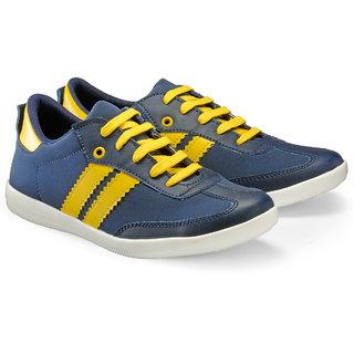 Juandavid MenS Blue Slip On Sneakers Shoes (9014 Blue)