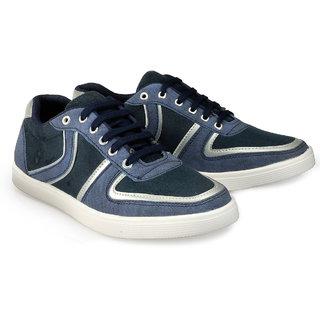 Juandavid MenS Blue Slip On Sneakers Shoes (909 Blue)
