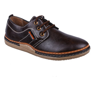 Cool River Men Tan Casual Lace-Up Shoes (4971)