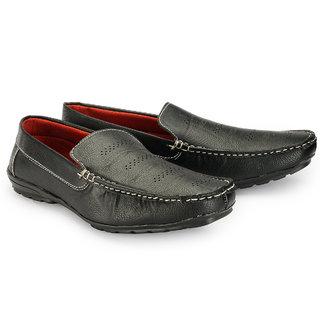 Juandavid MenS Black Slip On Sneakers Shoes (F-55 Black)