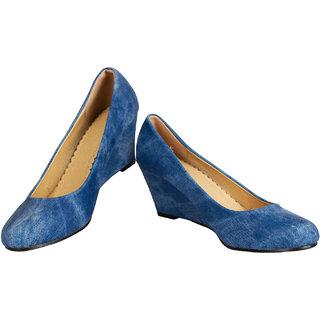 Rialto WomenS Blue Casual Wedge Heel Sandals (Rialto-V60-Blue)