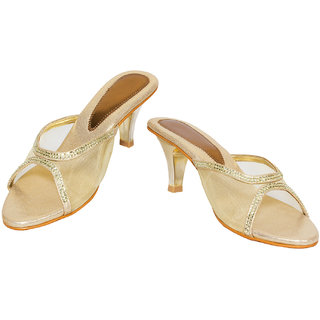 Rialto WomenS Gold Casual Open Toe Heel Sandals (Rialto-V65-Gold)